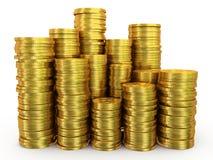 Sterty złociste monety Obraz Royalty Free