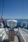 steru jacht Obrazy Royalty Free