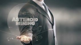 Stervormige Mijnbouw met het concept van de hologramzakenman stock video