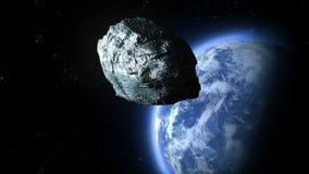 Stervormige vliegen aan de Aarde stock illustratie
