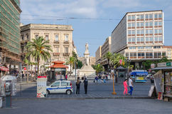Stesichorus Square and Bellini's Monument Royalty Free Stock Photography