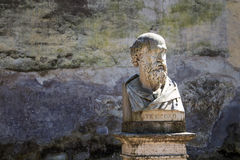 Stesicoro,罗马,意大利雕象  免版税库存图片