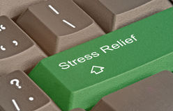 Stess relief. Keyboard with key for stess relief Stock Images
