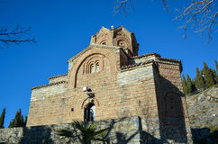 Stet John på Kaneo i Ohrid arkivbilder