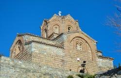 Stet John på Kaneo i Ohrid royaltyfri foto