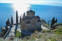 Stet John på Kaneo i Ohrid Arkivfoton