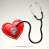 Stethescope on Heart Royalty Free Stock Image