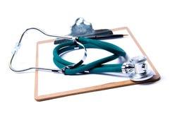 Stethoscoop & klembord Stock Foto's