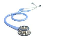 Stethoscoop blauwe kleur Stock Afbeelding