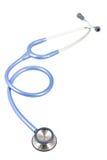 Stethoscoop blauwe kleur Royalty-vrije Stock Afbeeldingen
