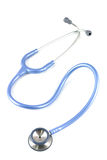 Stethoscoop blauwe kleur Stock Foto's