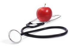 Stethoscoop en Appel Royalty-vrije Stock Afbeelding