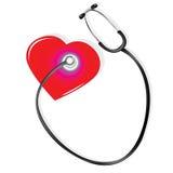 Stethoscoop en hart Royalty-vrije Stock Fotografie