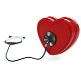 Stethoscoop en hart Royalty-vrije Stock Afbeelding