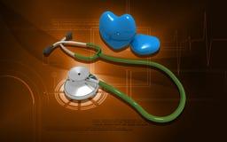 Stethoscoop en hart Royalty-vrije Stock Foto's