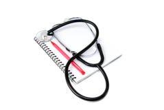 Stethoscoop en notitieboekje Stock Afbeelding