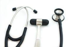 Stethoscoop en reflexhamer Royalty-vrije Stock Afbeelding