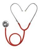Stethoscoop in Hartvorm Stock Afbeeldingen
