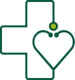 Stethoscoop met hart royalty-vrije illustratie