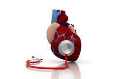 Stethoscoop op een hart stock illustratie