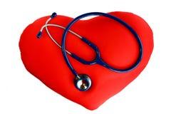 Stethoscoop op het hart Stock Afbeelding
