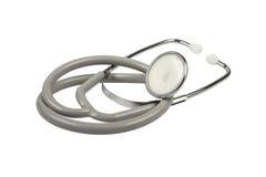 Stethoscoop op wit royalty-vrije stock foto's