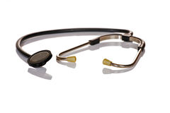 Stethoscope. Medical stethoscope isolated over white Royalty Free Stock Photos