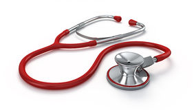 Stethoscope. On a white background