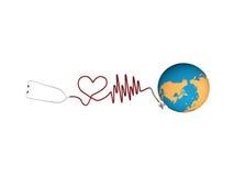 Stethoscope. Isolated on white background vector illustration