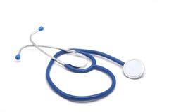 Stethoscope. Blue isolated on white Stock Image