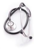 Stethoscope. Doctors medical stethoscope isolated on white background Royalty Free Stock Image