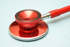 Stethoscope. A medical stethoscope for testing pulse and heartbeats Royalty Free Stock Photos