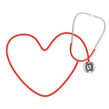 Stethoscope. Making a heart shape Royalty Free Stock Images