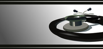 Stethoscope. A  stethoscopeon a gradient background Royalty Free Stock Photography