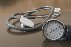 The stethoscope. Medical stethoscope Royalty Free Stock Image