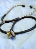Stethoscope 5. Stethoscope on the blue uniform royalty free stock image