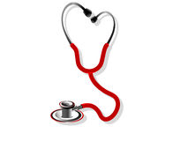 Stethoscope. The stethoscope on isolated background vector illustration