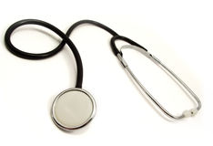 Stethoscope. Real cardiological test with stethoscope Royalty Free Stock Photography