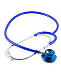 Stethoscope. A blue stethoscope isolated on white with clipping path stock photos