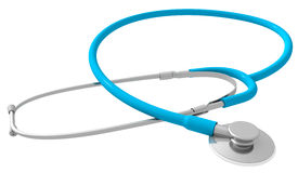 Stethoscope. High quality 3D render of a stethoscope, isolated on white with no surrounding shadows Stock Photos