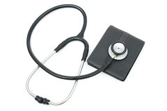 Stethoscope above a wallet Royalty Free Stock Images