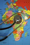 Stethoscope on Africa Royalty Free Stock Photography