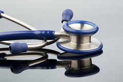 Stethoscope against white background Royalty Free Stock Image