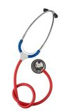 Stethoscope against white background Royalty Free Stock Images
