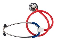 Stethoscope against white background Stock Photography