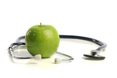 Stethoscope And Apple Stock Photo