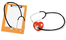 Stethoscope And Blank Clipboard Stock Photography