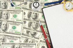 Stethoscope And Dollars Stock Photography