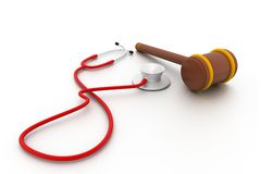 Stethoscope And Gavel Stock Photo