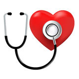 Stethoscope And Heart. Vector Royalty Free Stock Images
